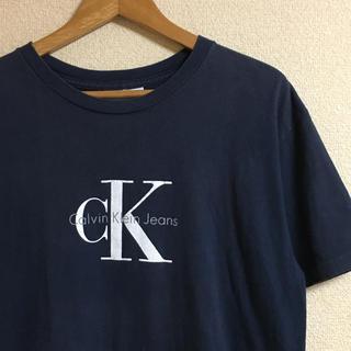 Calvin Klein - 90's USA製 Calvin Klein Jeans ロゴTシャツ ネイビー