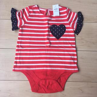 babyGAP - 新品 babyGAP 半袖ロンパース 女の子 80サイズ 赤 フリフリ袖