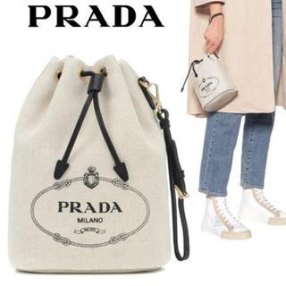 PRADA - PRADA キャンバスバケットバッグ 新作