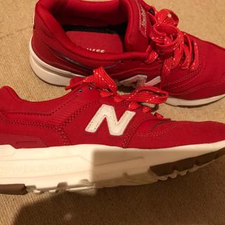 New Balance - ニューバランススニーカー 赤