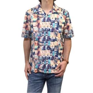 ギャルソンウェーブ(Garcon Wave)の新品 M 希望小売価格 10,780円 フォトプリント 半袖シャツ ポリシャツ(シャツ)