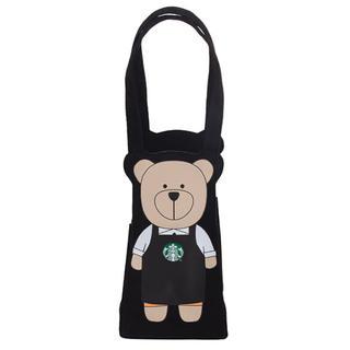 Starbucks Coffee - 台湾 スターバックス ベアリスタ ドリンクホルダー タンブラーケース