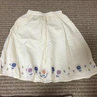 サマンサモスモス(SM2)のエヘカソポ 刺繍スカート(ひざ丈スカート)