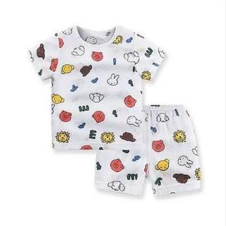 ミッフィー 80 綿と竹繊維 半袖パジャマ
