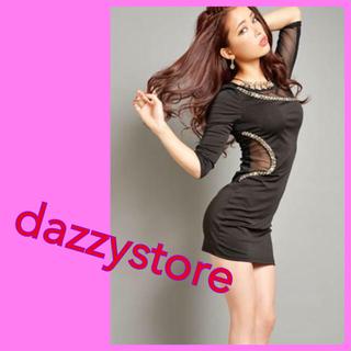dazzy store - dazzy store シースルーデザイン袖付きタイトミニドレス
