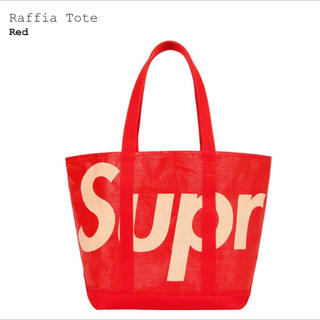 Supreme - Supreme Raffia Tote 赤 Red