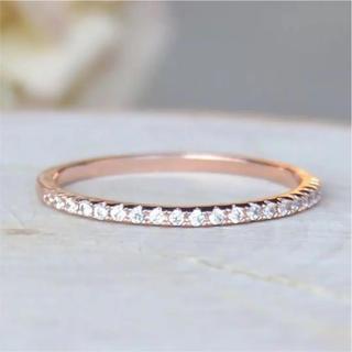 ハーフエタニティーハーフダイヤモンド風リング パヴェ(リング(指輪))