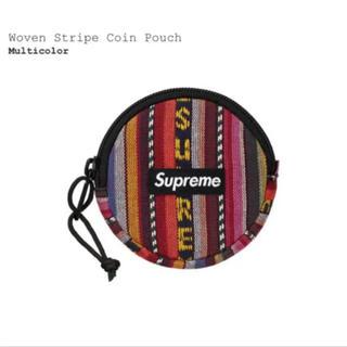 シュプリーム(Supreme)のSupreme Woven Stripe Coin Pouch マルチカラー(コインケース/小銭入れ)