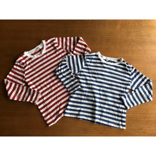 MUJI (無印良品) - 無印良品 長袖Tシャツ 120サイズ 2枚