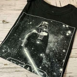 Tシャツ メンズ スターウォーズ STARWARS ダースベイダー 黒 ブラック(Tシャツ/カットソー(半袖/袖なし))