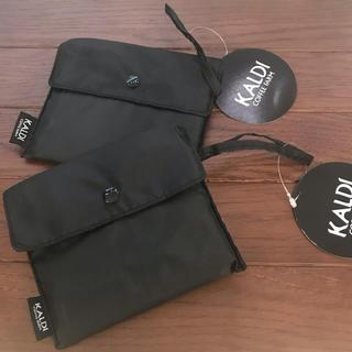 カルディ(KALDI)のKALDI カルディオリジナル  エコバッグ ブラック 2点(エコバッグ)