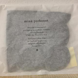 ミナペルホネン(mina perhonen)のミナペルホネン タンバリン ハンカチ  チャコール【新品未使用品】(ハンカチ)
