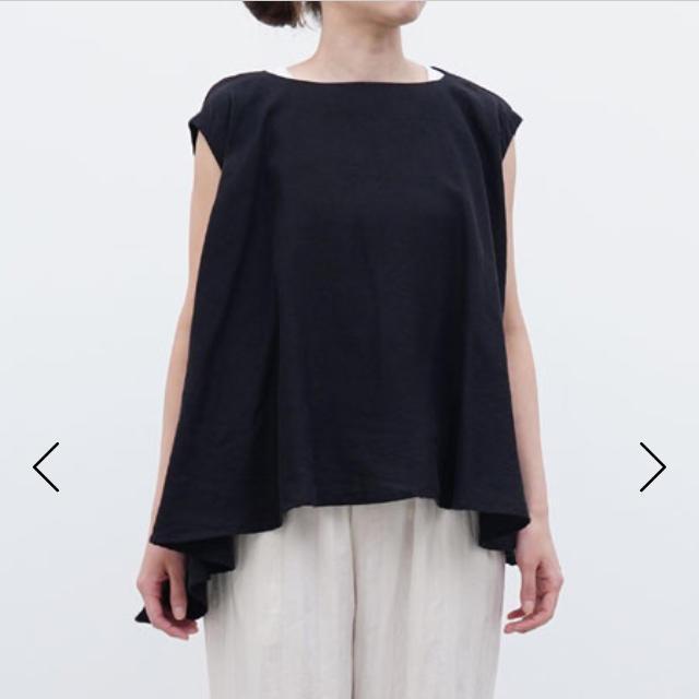 mizuiro ind リネンボートネックフレアプルオーバー レディースのトップス(シャツ/ブラウス(半袖/袖なし))の商品写真