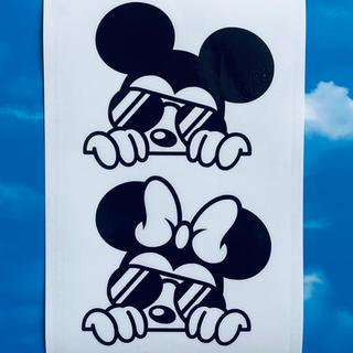 ディズニー(Disney)のミッキーマウス ミニーマウス ひょっこり ステッカー(ステッカー)