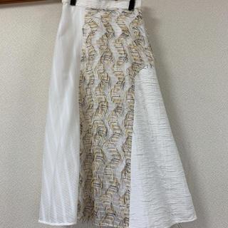 ENFOLD - 試着のみ エンフォルド スカート 36 白 デザイン