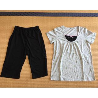 アモスタイル(AMO'S STYLE)の【新品未使用✨】アモスタイル、グレー×黒、パジャマ(パジャマ)