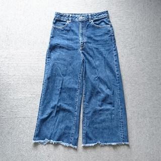 GU - GU ジーユー ワイドアンクルジーンズ XL デニム パンツ