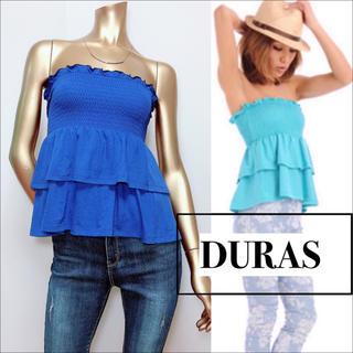 DURAS - DURAS シャーリング ベアトップス カットソー♡リップサービス リゼクシー