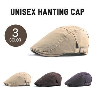 ハンチングキャップ 男女兼用(ハンチング/ベレー帽)