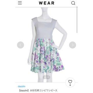 dazzlin - 【dazzlin】水彩花柄コンビワンピース