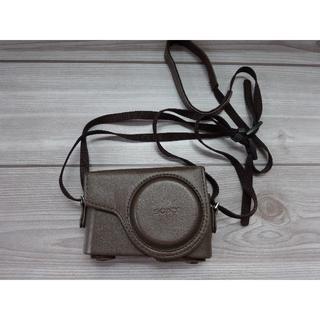 SONY - SONY サイバーショット DSC-WX300専用 カメラケース 革 ブラウン