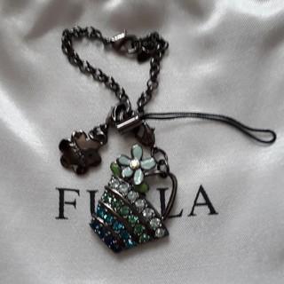 フルラ(Furla)のFURLA フルラ バッグチャーム ストラップ スワロフスキー 新品(ストラップ/イヤホンジャック)