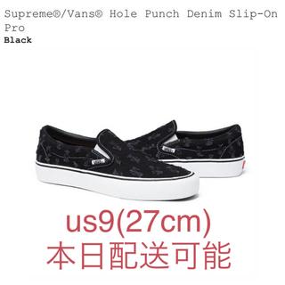 シュプリーム(Supreme)のsupreme vans hole punch denim slip-on 27(スリッポン/モカシン)