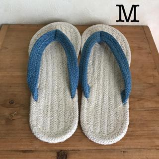 ムジルシリョウヒン(MUJI (無印良品))の無印良品 インド綿 ルームサンダルM(スリッパ/ルームシューズ)