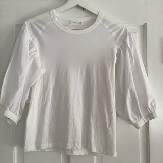 yori パフスリーブ Tシャツ ホワイト ヨリ フリー