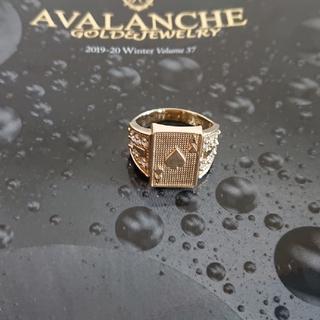 アヴァランチ(AVALANCHE)のアヴァランチ 10k YG トランプリング 指輪 アバランチ k10 10金(リング(指輪))