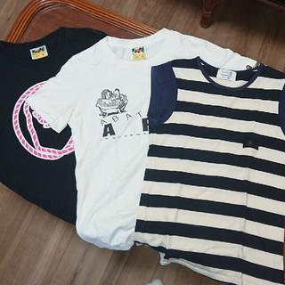 アベイシングエイプ(A BATHING APE)のエイプ Tシャツ 3枚セット(Tシャツ(半袖/袖なし))