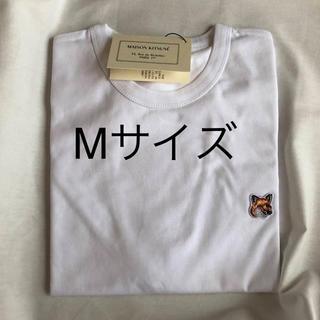 MAISON KITSUNE' - メゾンキツネ maison kitsune Tシャツ M 顔パッチ 白