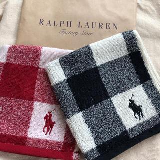 ラルフローレン(Ralph Lauren)の【未使用】ラルフローレン ミニタオル2枚(ハンカチ)