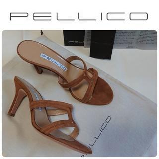 ペリーコ(PELLICO)のOggi掲載★新品 ペリーコ 定番 サンダル キャメル 36.5 定価52800(サンダル)