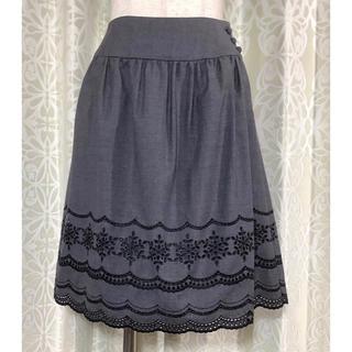 エフデ(ef-de)のef-de(エフデ)黒スカート(ひざ丈スカート)