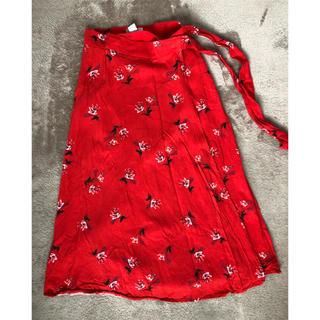 エイチアンドエム(H&M)のH&M フレアスカート 巻きスカート(ひざ丈スカート)