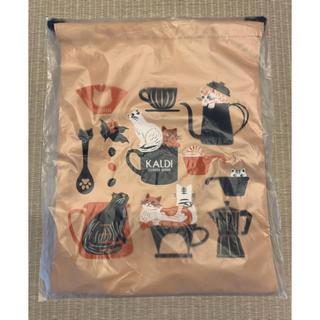 カルディ(KALDI)のカルディ ニャンコーヒー 巾着袋(ポーチ)