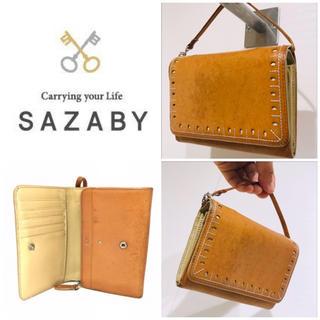 サザビー(SAZABY)の本革レザー■大丸購入■サザビー SAZABY 2つ折り財布 レディース(財布)