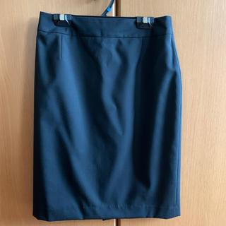 パーソンズ(PERSON'S)のPERSON'S タイトスカート 黒 9号(スーツ)