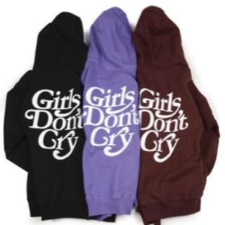 ジーディーシー(GDC)のgirl's don't cry パープル パーカー verdy(パーカー)