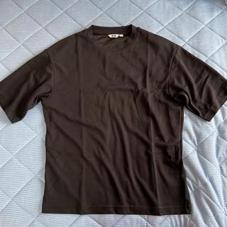 ユニクロ(UNIQLO)のエアリズムコットンオーバーサイズ ブラック M 中古(Tシャツ/カットソー(半袖/袖なし))