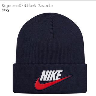 Supreme - supreme 18fw nike beanie navy ネイビー ニット帽