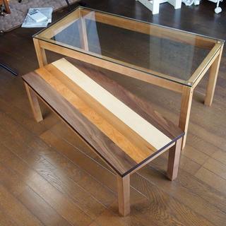 【送料無料】Nordic Nest Glass Table(ローテーブル)