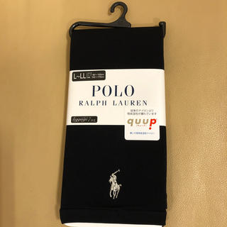 ポロラルフローレン(POLO RALPH LAUREN)の新品 レディース  ポロラルフローレン 7分丈黒レギンス 日本製 L〜LL寸 (レギンス/スパッツ)