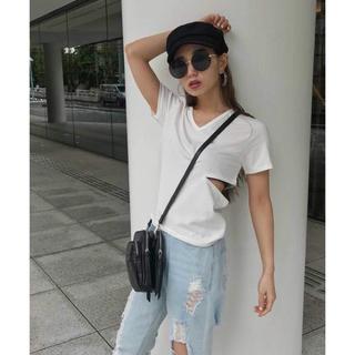 アンビー(ENVYM)のENVYM  カッティングT-SH ピンク(Tシャツ(半袖/袖なし))
