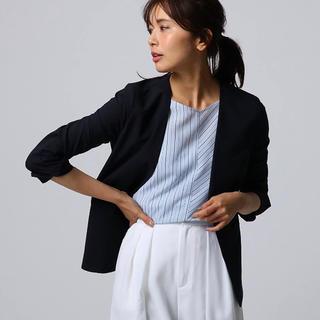 UNTITLED - UNTITLED 【洗える】ストレッチカラーレスジャケット