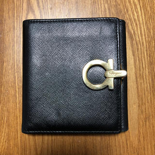 Salvatore Ferragamo - フェラガモ ガンチーニ 二つ折り財布 黒