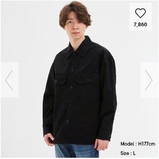 ジーユー(GU)のGU メンズ ツイルシャツアウター Lサイズ(その他)