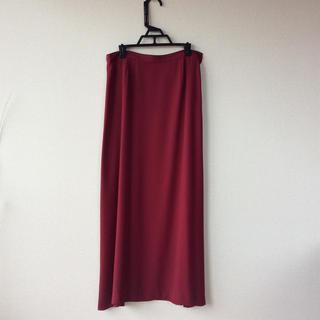 アニエスベー(agnes b.)の美品!アニエスベー のワイン色のロングスカート(ロングスカート)