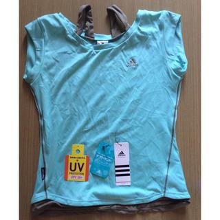 アディダス(adidas)のアディダスadidas エメラルドベージュTシャツ UV 50+ 抗菌防臭 ヨガ(ヨガ)
